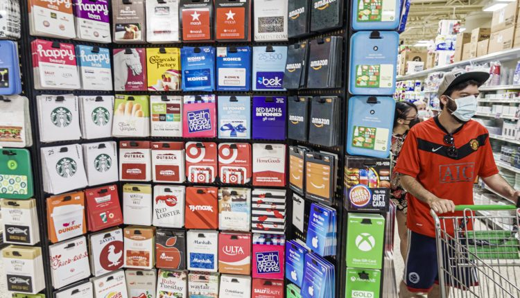 Holiday gift-card buying could help boost retail sales in 2021: