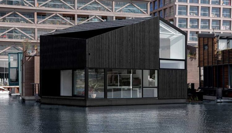 An Angular Floating Home in a Sustainable Floating Village in