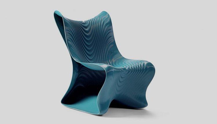 Undulating + Futuristic, Meet the Mawj 3D Printed Chair