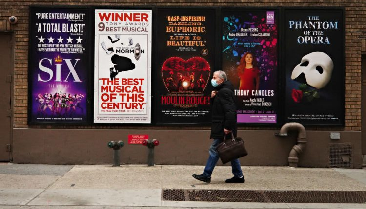 NY aims to reopen Broadway, large venues, with Covid testing,