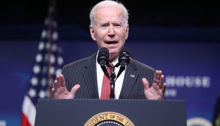 Biden speaks at Pfizer vaccine manufacturing site as storm delays