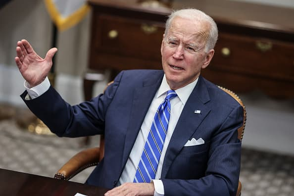 President Biden meets with CEOs from J&J and Merck