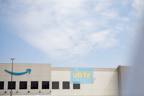 Counting of Ballots Begins in Amazon Union Vote: Live Updates