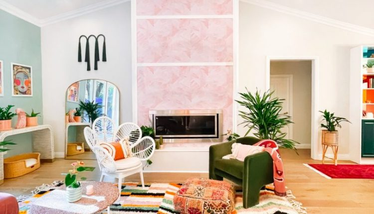 A Vibrant Living Room Redesign Stands Out With Custom Lime