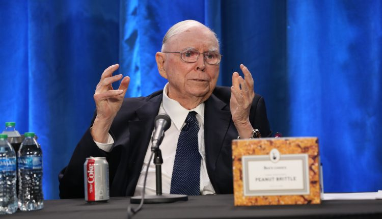 Charlie Munger calls bitcoin 'disgusting and contrary to the interests
