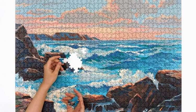 1950s Paint by Numbers Puzzles Featuring Modernized Landscapes