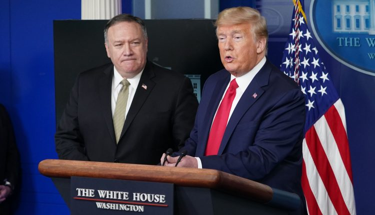 Trump contradicts Pompeo, plays down alleged Russian role in hack