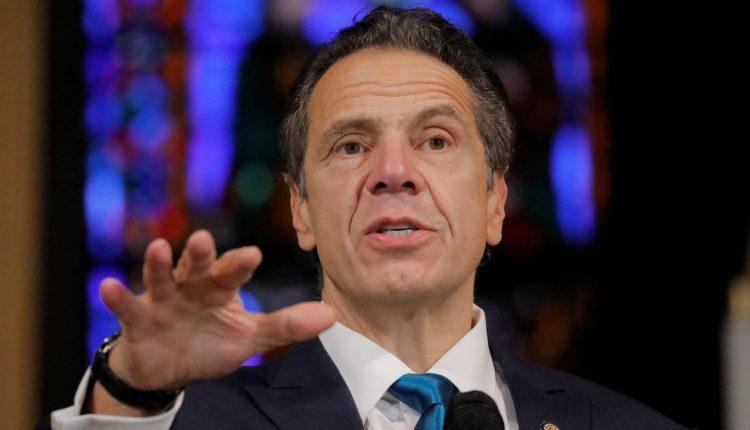 NY Gov. Cuomo holds a press briefing as state prepares