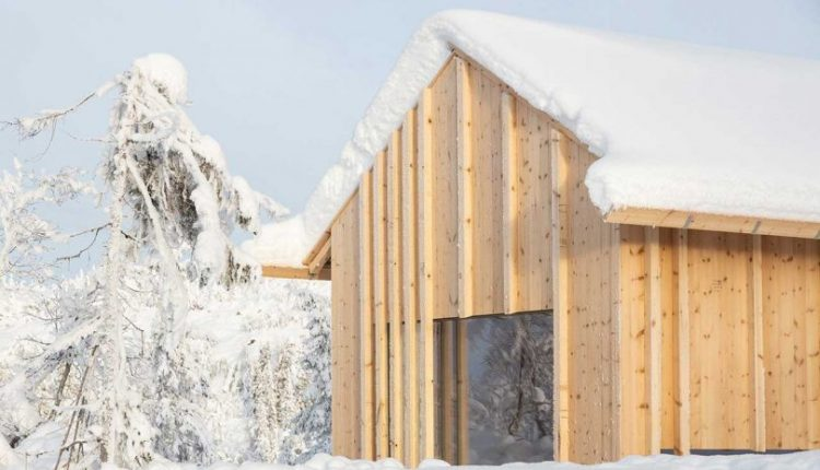 The Narrow Kvitfjell Cabin on Top of the Mountains in
