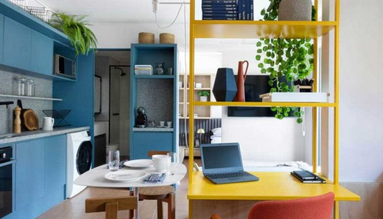A Studio Apartment in São Paulo With a Vibrant Color
