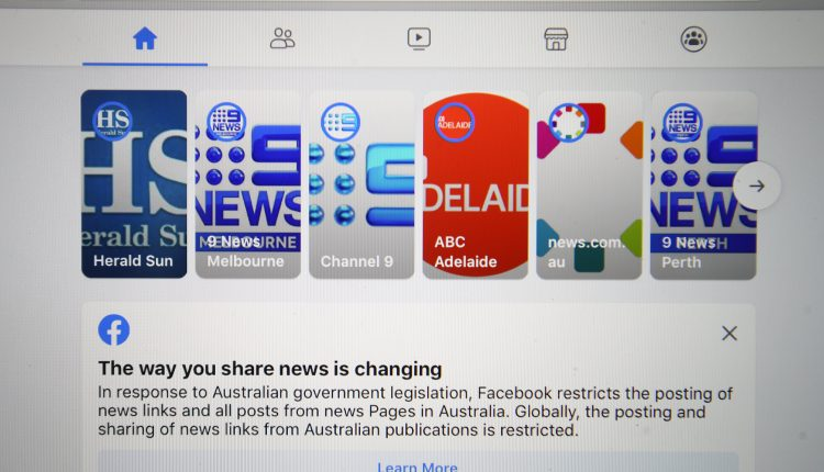Australia's treasurer says Facebook was wrong to block news content