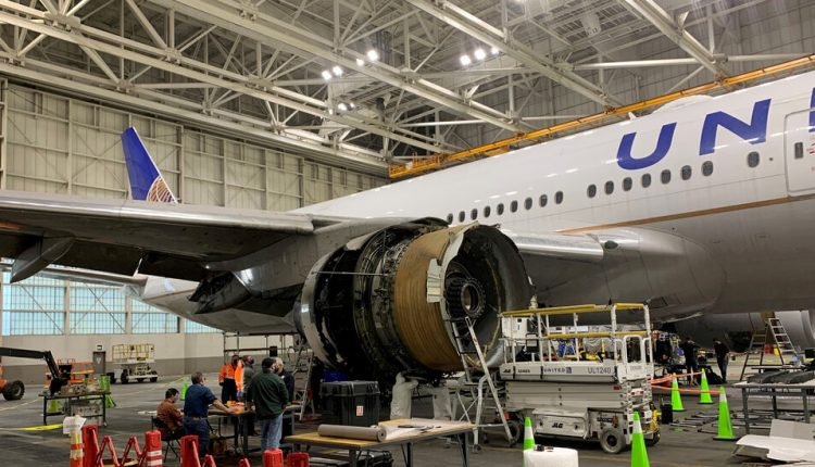 The United Airlines engine that failed broke years ahead of