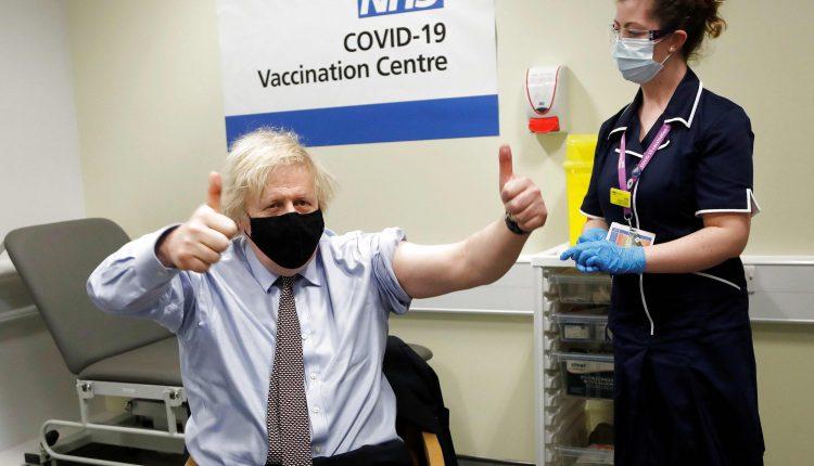 Britain's Boris Johnson gets AstraZeneca vaccine