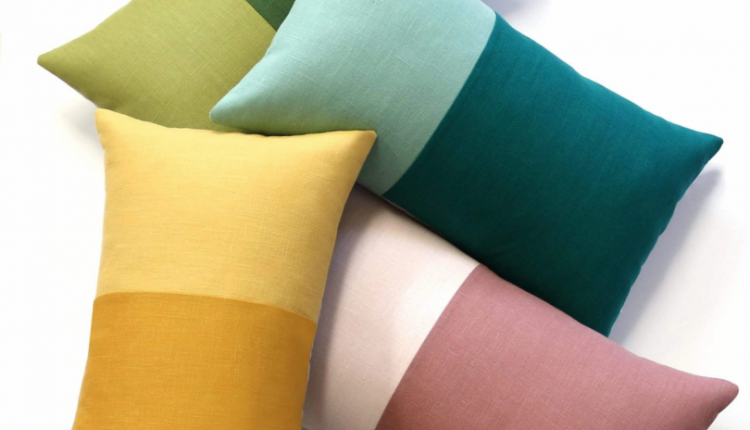 Modernist Pillows That Bring Color, Pattern + Texture Into the