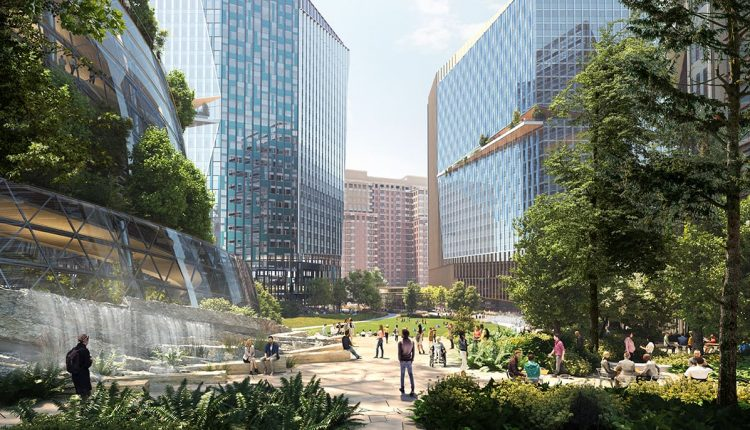 Amazon releases new images of HQ2 as it ramps up