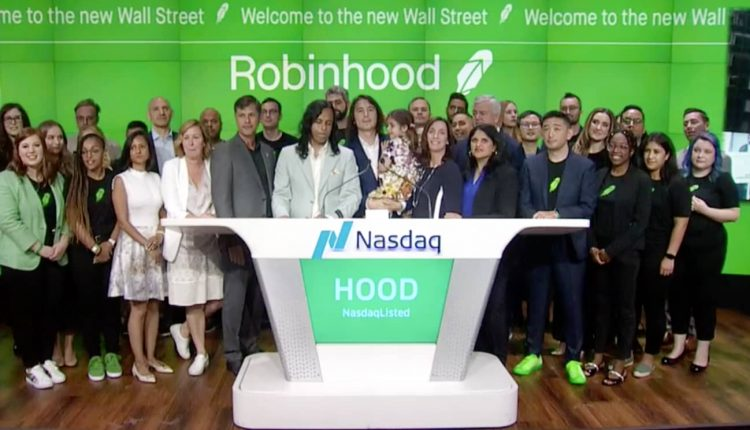 Robinhood halted for volatility after surging 40%, trading app up